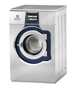 Die Mopp-Waschmaschine von Electrolux Professional verhindert eine Wiederverkeimung über den Waschmittelkasten durch ein 4-Wege-Ventil. Bildquelle: Electrolux Professional
